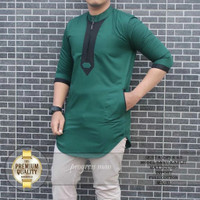 baju kurta pria koko muslim fashion - Hijau, M