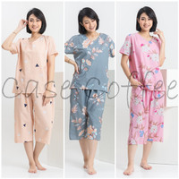 CELANA PENDEK piyama wanita setelan baju tidur katun motif cewek - MOTIF APA SAJA