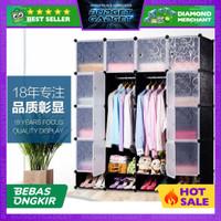 Magic Wardrobe Lemari Baju Plastik DIY 16 Pintu