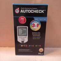 autocheck alat GCU 3 in 1 alat test darah gula, kolestrol, asam urat