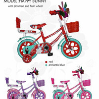 sepeda mini ban eva untuk anak perempuan merek Erminio ukuran 12