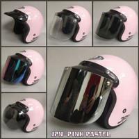 helm retro bogo jpn arc ori 100% (pink pastel) - HANYA HELM SAJA, M