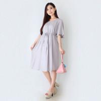 Eve Maternity Baju Hamil Menyusui Dress Premium Rayon FDM169 - Abu-abu