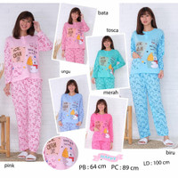 Piyama Baju Tidur Pajamas Kaos Cewek/ Wanita Dewasa PP Bahan Adem