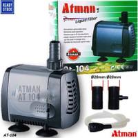 aquarium power head mesin pompa celup atman at-104