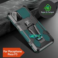 Case Hp POCOPHONE POCO F3 Premium Belt Clip Stand Hardcase Back Cover