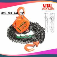 (GHC) Chain Block 1 Ton x 3 Meter Japan VITAL Takel Keretan Manual