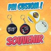 Pin Custom 44mm-Request Gambar Anime/Kpop/Idol untuk Event/Pribadi - Gantungan Kunci