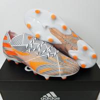 Sepatu Bola Adidas Nemeziz. 1 Superspectral White Orange