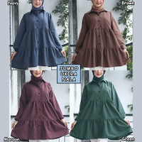 Tunik Jumbo Ukira Baju Atasan wanita Muslim Big Size
