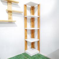 Rak sudut Buku/bunga/corner Shelf