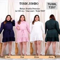 Tunik Jumbo 3XL TU3XL Baju Atasan Wanita Muslim Kemeja Busui