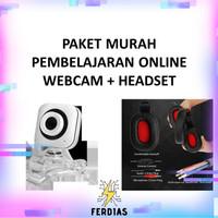 Paket Pembelajaran Online Webcam + Headset