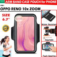 Oppo Reno 10x Zoom Armband Sport Sarung Case Hp Lengan Lari Jogging - Hitam
