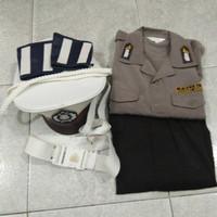 baju set profesi polisi anak