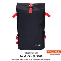 Tas Rainproof Rolltop Backpack Lite 321 by NAMA - Black - Black-Red