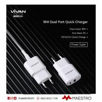 Adaptor USB Vivan Power Super II + Type C with Cable