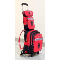 Tas Troli Anak SD SMP Remaja 3 Roda 4in1 trolley backpack school - Spiderman 4in1