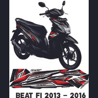 STRIPING VARIASI LIS MOTOR-HONDA BEAT PGM FI 2013 - 2016 STICKER