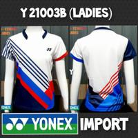 baju kaos badminton bulutangkis cewek wanita yonex import y 21003b