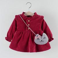 BAJU IMPORT DRESS ANAK PEREMPUAN / MOTIF KUCING / KITTY GAUN BABY GIRL
