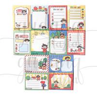 Memo Mini Red Girl Notes Motif Gadis Pakai Baju Merah DIY GH 301439