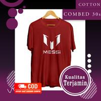 Kaos Bola Baju Distro Pria Dewasa Kekinian Branded Tshirt Keren Messi