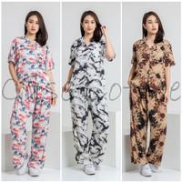 CELANA PANJANG piyama tie dye kulot baju tidur wanita dewasa motif - MOTIF APA SAJA