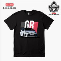 Kaos Baju Mobil TOYOTA YARIS RAIZE GAZOO RACING Kaos Otomotif - KRMK - Hitam, S