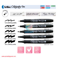 Pulpen Kaligrafi ARTLINE Supreme Flat Style Calligraphy Pen
