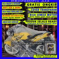 Cover Sarung Motor Transparan Vixion Verza King Thunder Mega Ninja 11 - SEPEDA