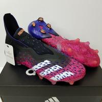 Sepatu Bola Adidas Predator Freak Black Shock Pink Purple