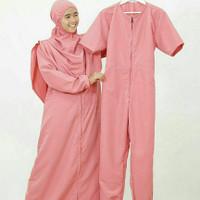 Jumpsuit Daleman Pakaian Renang Hijab Alila - Pink size M