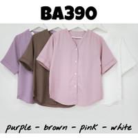 baju atasan blouse polos kerja kantor fashion trend cewek wanita murah