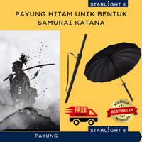 Payung Hitam Unik Langka Bentuk Katana Samurai Jepang Kenshin Himura