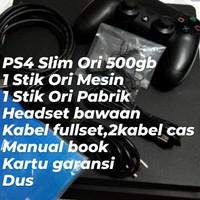 PS4 Slim Ori 500GB Fullset Garansi