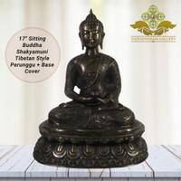 Rupang Patung Sitting Buddha Shakyamuni Tibetan Style Perunggu/Bronze