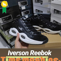 Sepatu Basket Iverson Reebok Black White Taraproject
