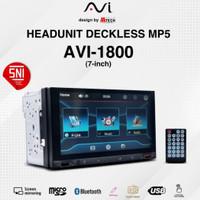 Headunit Double Din Deckless MP5 AVI 1800 7 Mobiletech Original