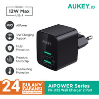 Aukey Charger PA-U32 2 Port 12W with AiQ - 500284