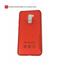 CASE IPAKY FOCUS CLEAR XIAOMI POCOPHONE F1 TPU SILICON BACK CASE LIST - Merah
