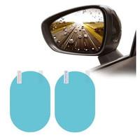 Anti Fog Embun Stiker Spion Mobil Motor Kaca Film Besar Oval Antifog
