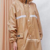 Jas Hujan Muslimah Syar'i Tipe Gamis warna Coklat Muda