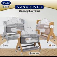 Baby Box Pliko Vancouver 163 R Rocking Bed - Grey