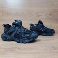 sepatu balenciaga track trainer full black