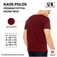 Kaos Polos ABC Premium Cotton Merah Maroon