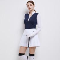 Skort dan kaos set golf baju golf wanita long sleeve BG v neck