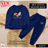 Baju Setelan Pakaian Olahraga Anak Perempuan GCI Mickey KIDS - navy, S