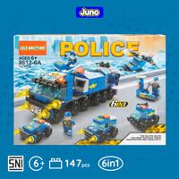 Mainan Bricks Police Car 6in1 Kombinasi Compatible LEGO  Juno 8612-6A