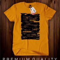 Kaos pria T-shirt Second eight kuning mustard